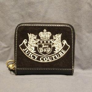 Juicy Couture black suede wallet